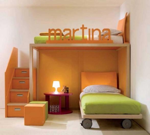 Kids-Bedroom-Design-for-Childrens-Orange-Colorful-587x530
